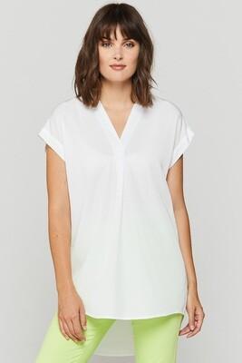 White Tab-Sleeve Top