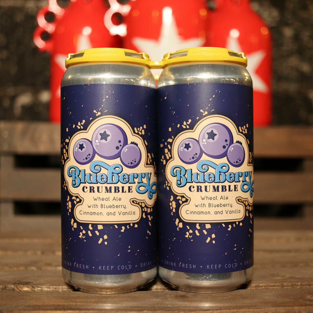 Lil Beaver Blueberry Crumble Wheat Ale w/Blueberry, Cinnamon & Vanilla 16 FL. OZ. 4PK Cans