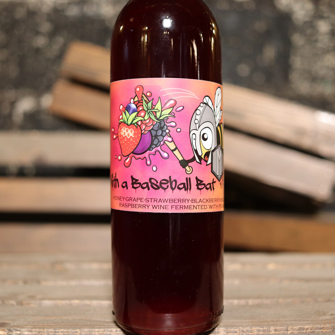 Misbeehavin' Mead With A Baseball Bat Mixed Berry 375ml.