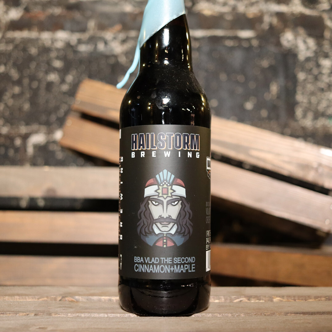 Hailstorm BBA Vlad The Second Cinnamon+Maple Stout 22 FL. OZ.