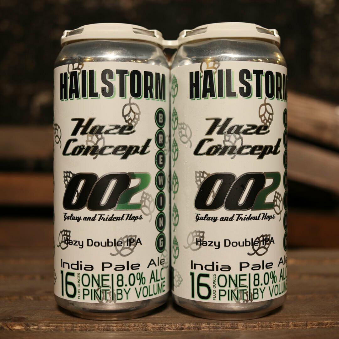 Hailstorm Haze Concept 002 Hazy DIPA 16 FL. OZ. 4PK Cans