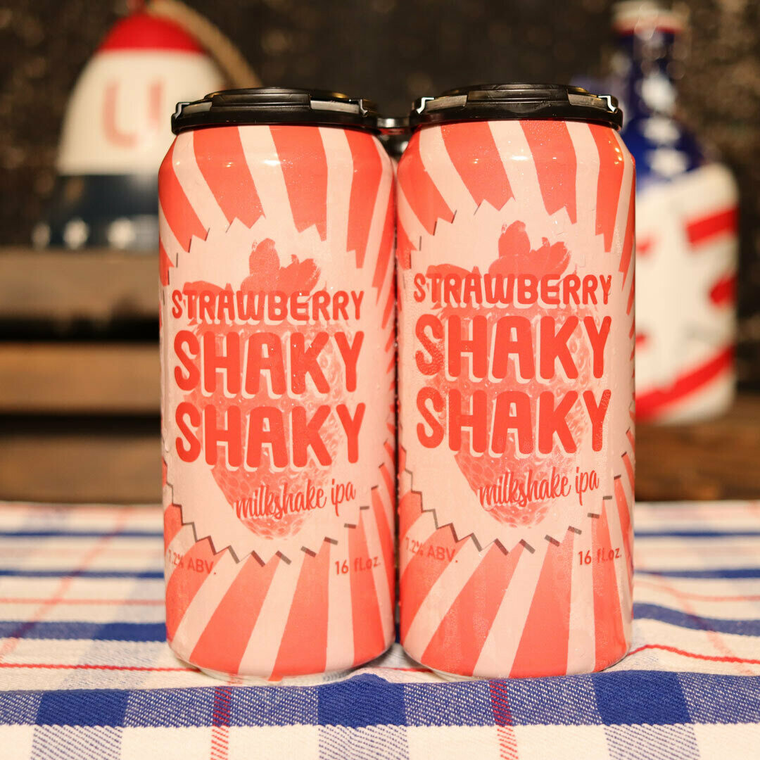 Riverlands Shaky Shaky Strawberry Milkshake IPA 16 FL. OZ. 4PK Cans