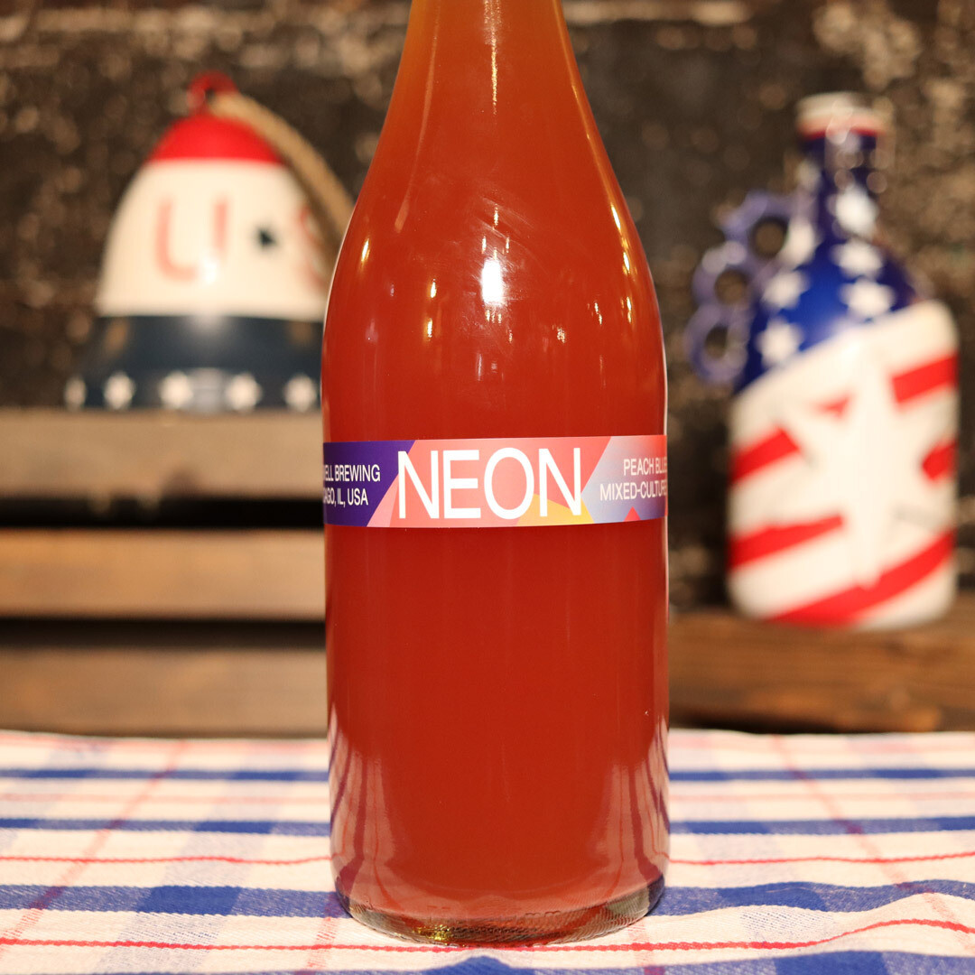 Hopewell Neon Peach Blueberry Mixed-Culture Sour Ale 750ml.