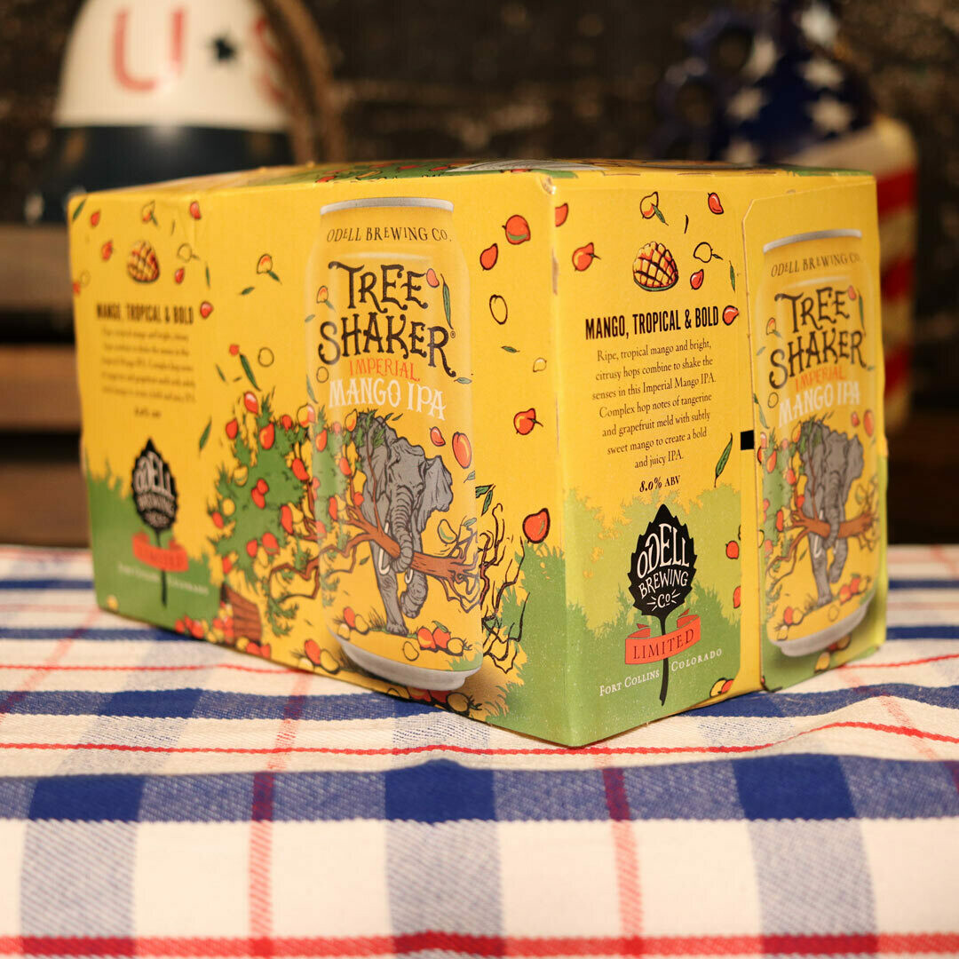 Odell Tree Shaker Imperial Mango IPA 12 FL. OZ. 6PK Cans