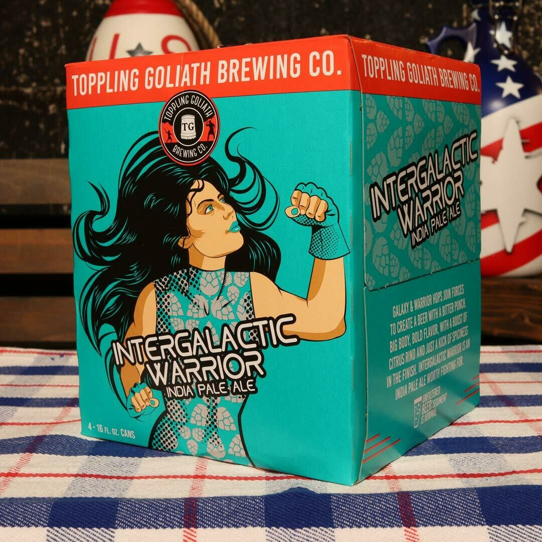 Toppling Goliath Intergalactic Warrior IPA 16 FL. OZ. 4PK Cans
