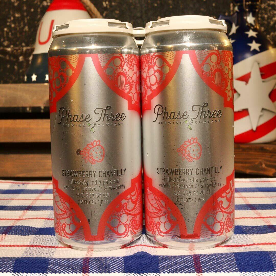 Phase Three Strawberry Chantilly Milkshake IPA 16 FL. OZ. 4PK Cans