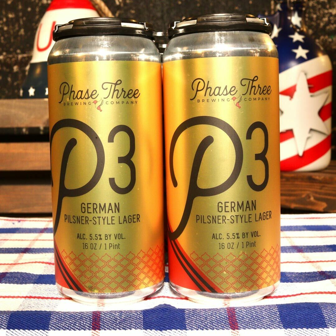 Phase Three German Pilsner-Style Lager 16 FL. OZ. 4PK Cans