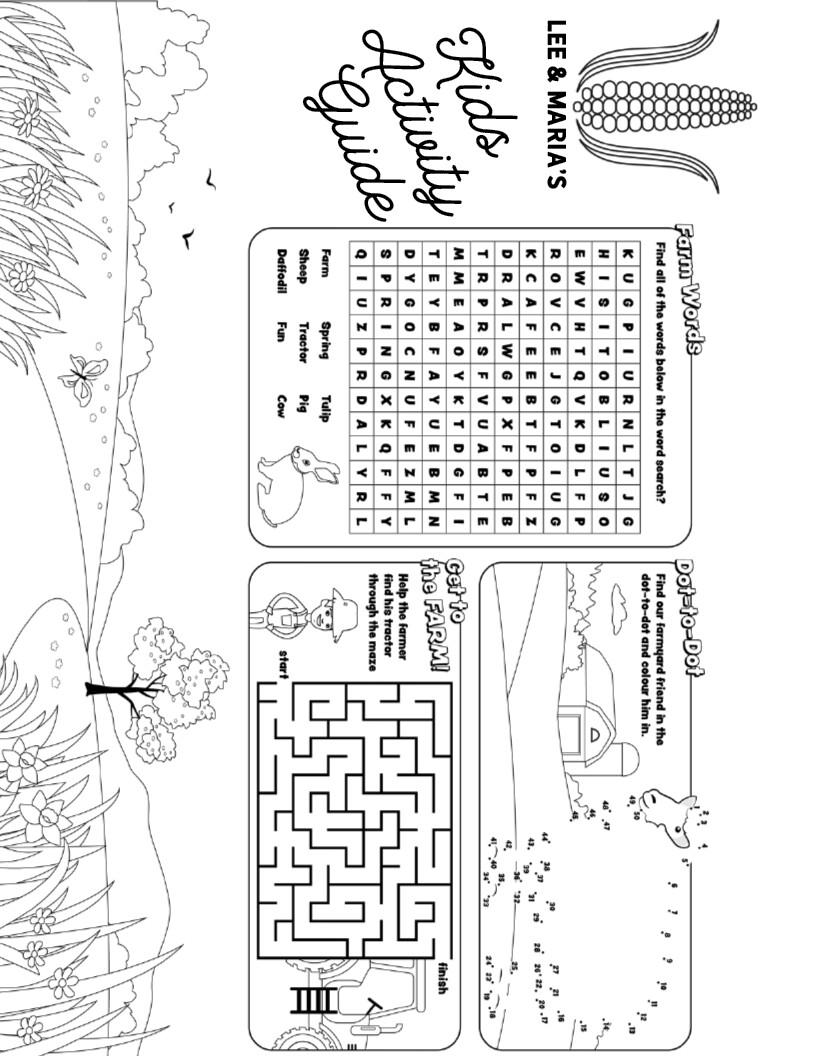 Lee & Maria's Kids Activity Sheet