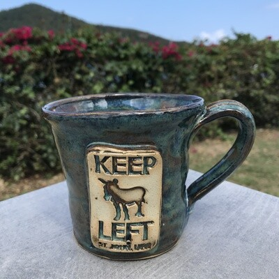 KEEP LEFT RUSTIC MUG-PS