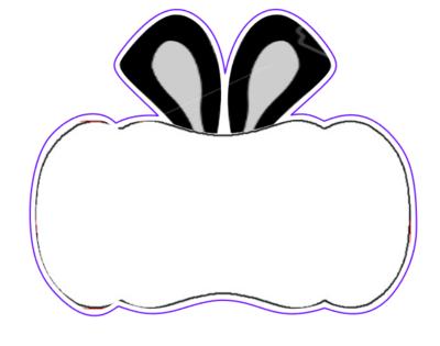 Bunny Ears Plaque 01