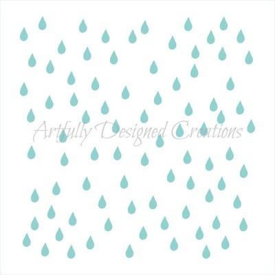 AD Rain Drops Stencil