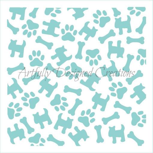 AD Dogs Love Stencil