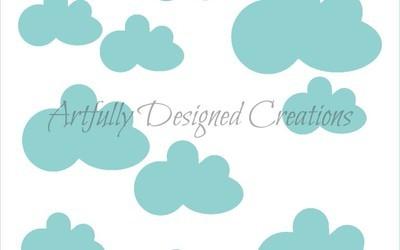 AD Clouds Stencil
