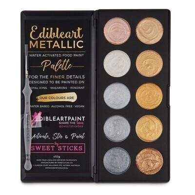 Edibleart Metalic Gold & Silver Palette