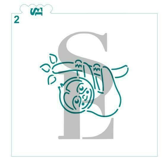 SE Sloth #2 Stencil
