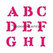 CC Block Alphabet (A-Z) Stencil