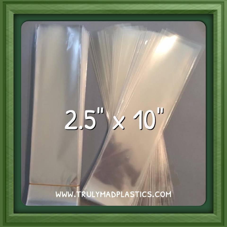 """Super Clear Cello Bags 2.5"""" x 10.0"""" (100/pcs)"""