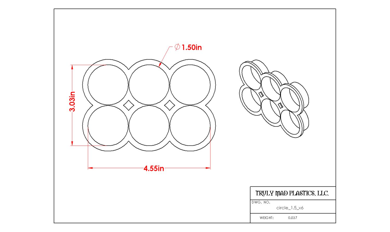 """Circle 1.5"""" multi cutter"""