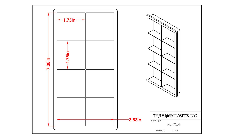 "Square 1.75"" (Cuts 8)"