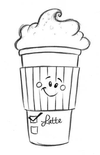 Drawn Latte 01 Coffee