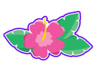 Luau Flower 01