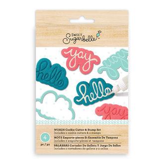 Sweet Sugarbelle Words Cutter & Stamp Set