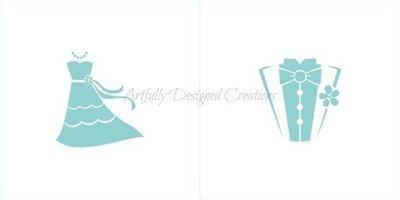 AD Wedding/Tux Stencil (2 stencils)