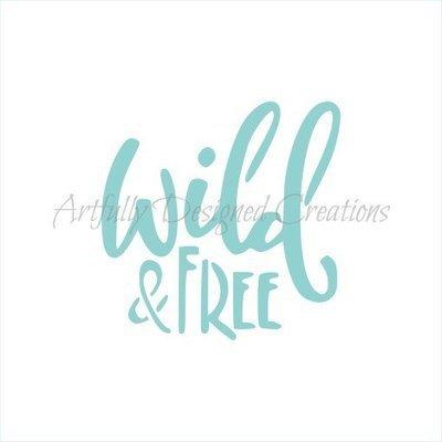 AD Blyss Wild & Free Stencil