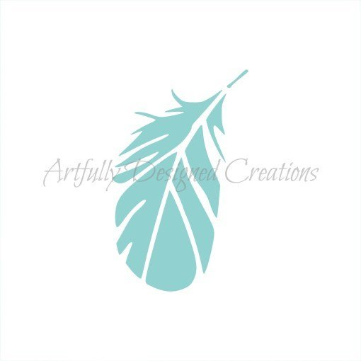 AD Blyss Small Feather Stencil