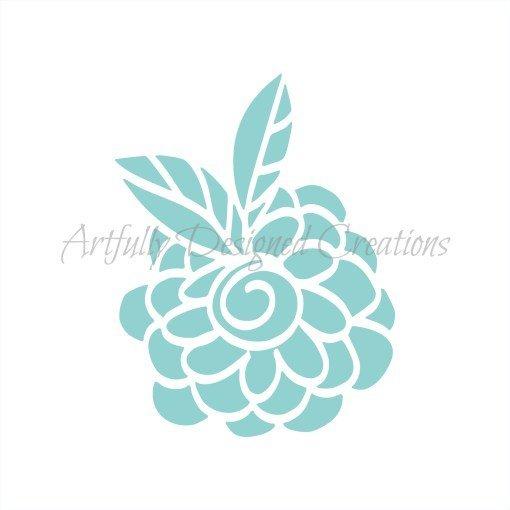AD Blyss Whimsical Flower Stencil