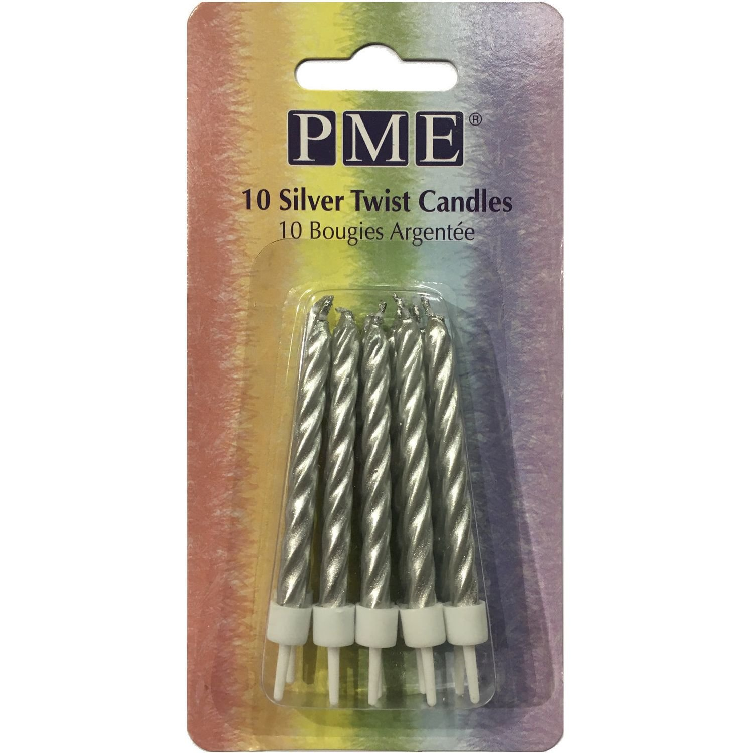 PME 10 Silver Twist Candles