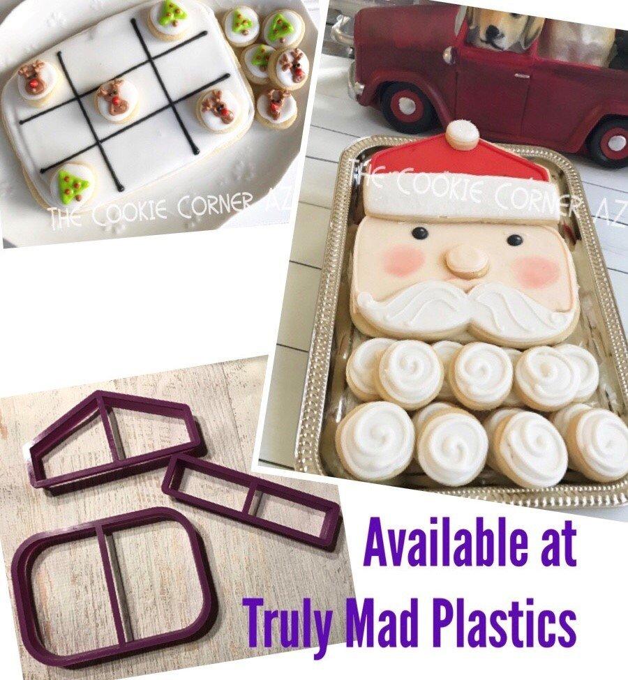 Santa Face Platter Set