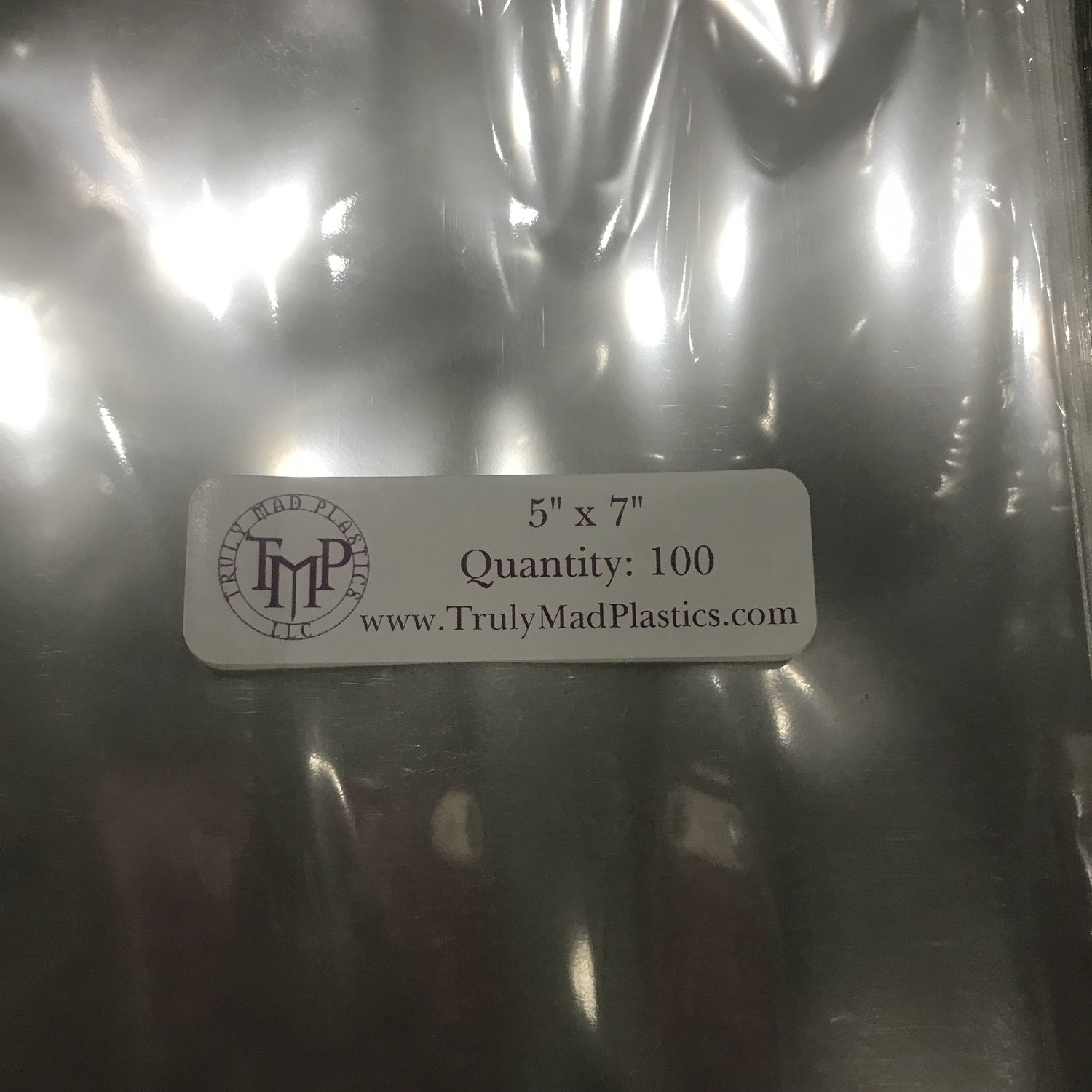 "Super Clear 5"" x 7"" Bags (100 pcs)"