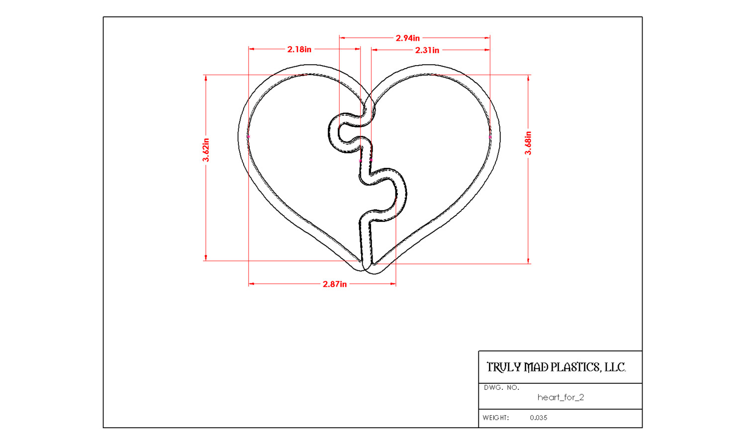 Heart for Two (2 pieces)