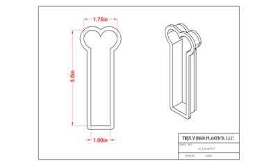 Heart Cookie Stick ( st heart 01)