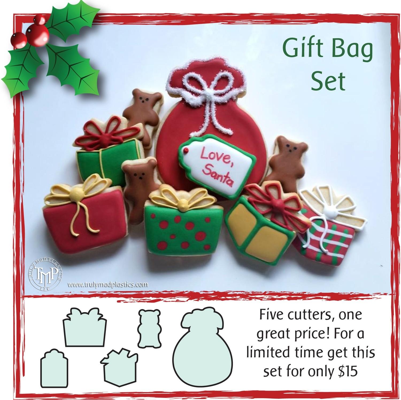 Christmas Gift Bag Set (Santa Sack, mini gift box 01, mini gift box 02, mini gift tag, mini bear 04_1.50)