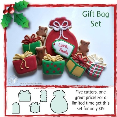 Christmas Gift Bag Set (Santa Sack, mini gift box 01, mini gift box 02, mini gift tag, mini bear 04_1.50)