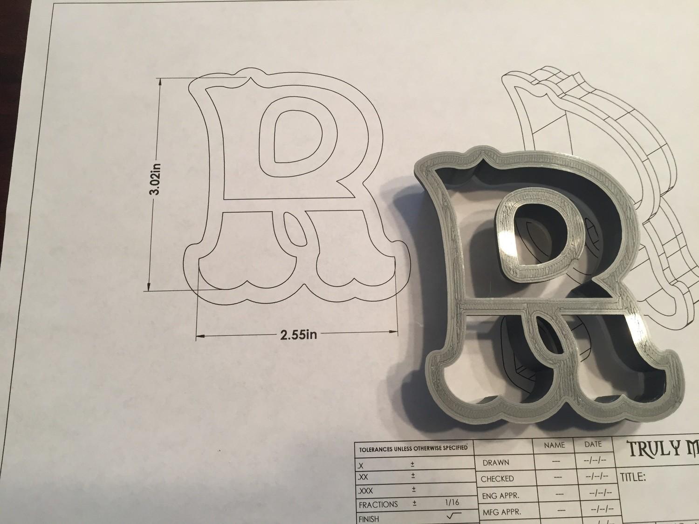 """R 3"""" Fancy Font"""