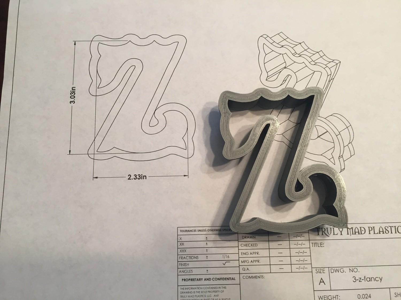 """Z 3"""" Fancy Font"""