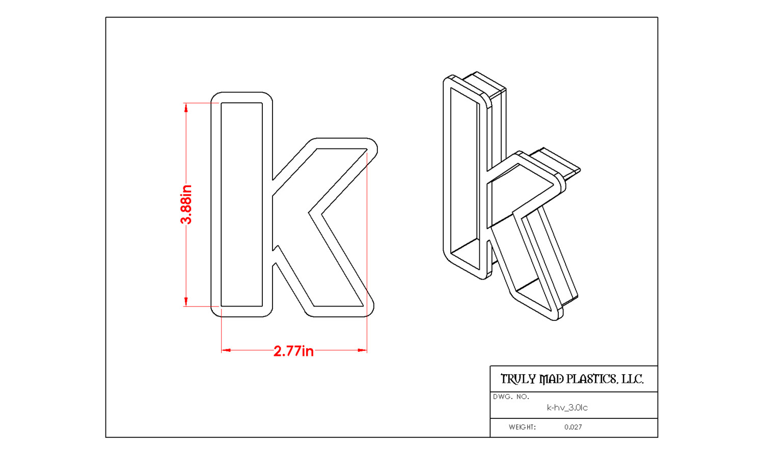 "Helvetica ""k"" lower case 3.0"""