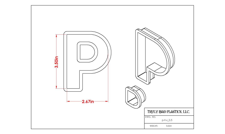 """Helvetica P 3.5"""""""