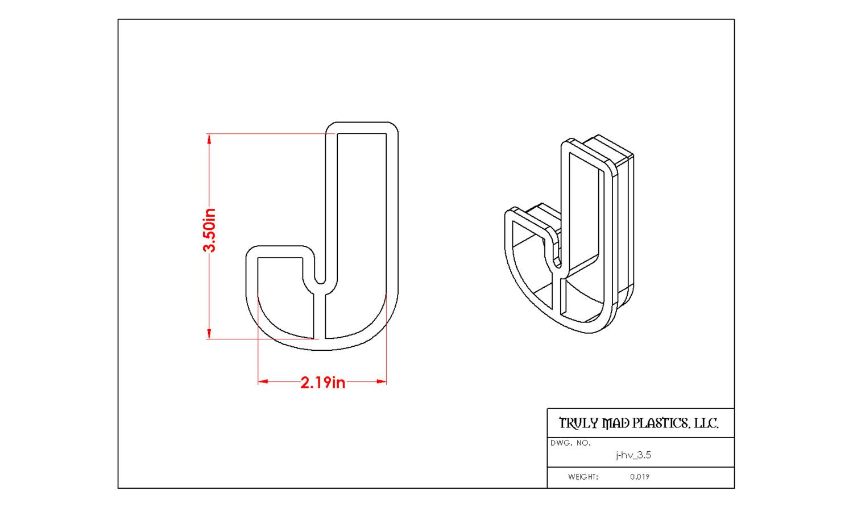"""Helvetica J 3.5"""""""