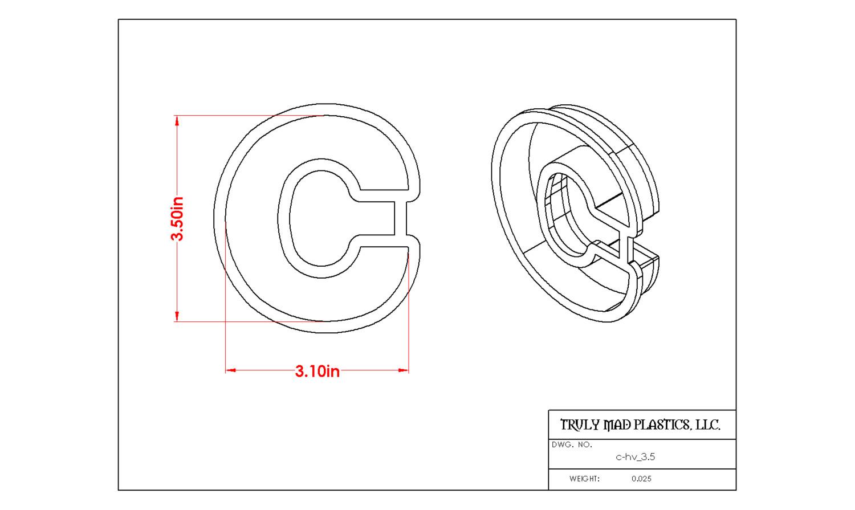 """Helvetica C 3.5"""""""