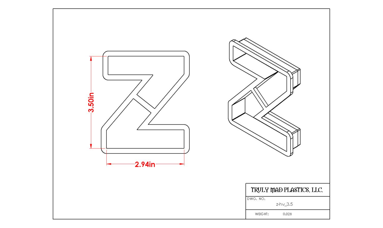 """Helvetica Z 3.5"""""""