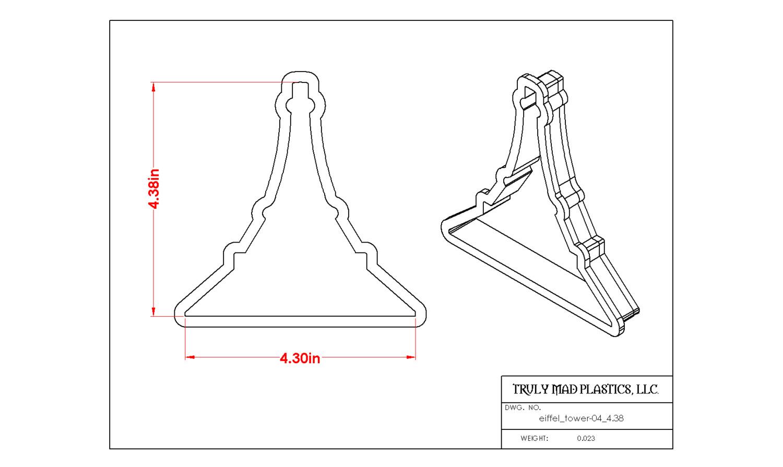 """Eiffel Tower 04 (4.38"""")"""