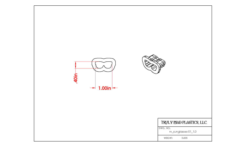 "Mini Sunglasses 01 (1.0"")"