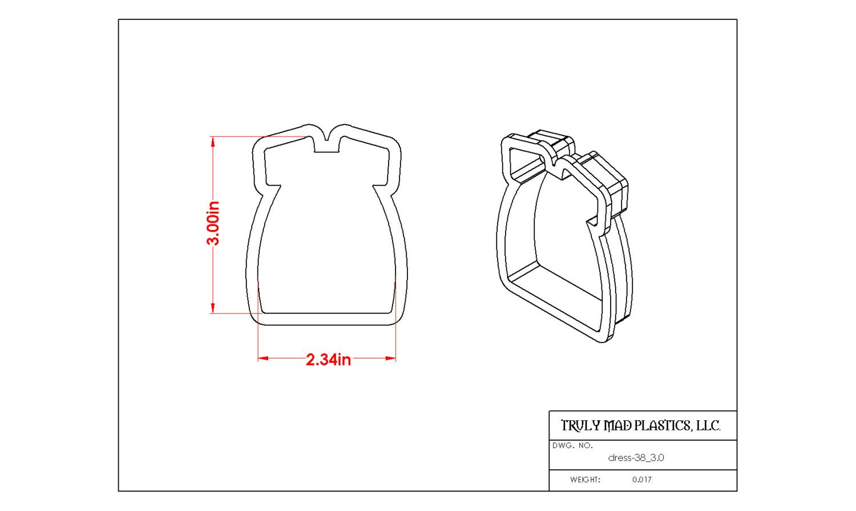 """Dress 38 (3.0"""")"""