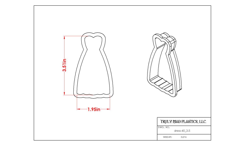 """Dress 40 (3.5"""")"""