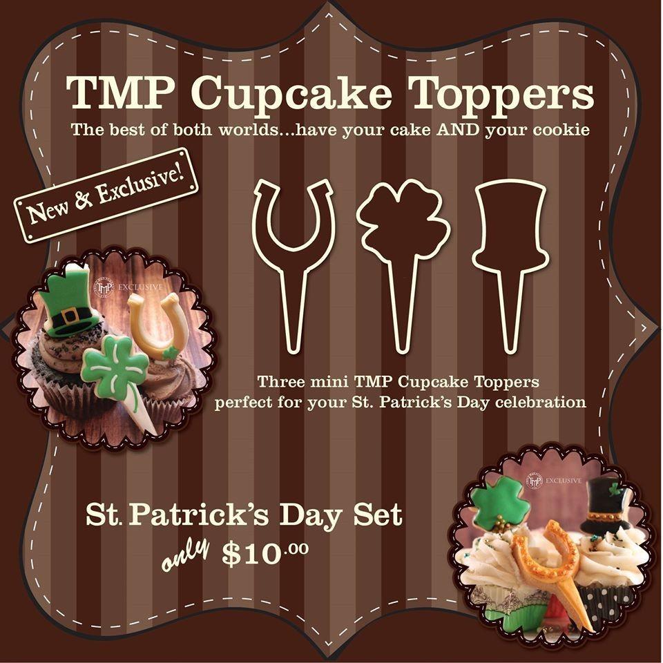CT St. Patricks Day Set (horse shoe 01, 4 leaf clover, top hat)
