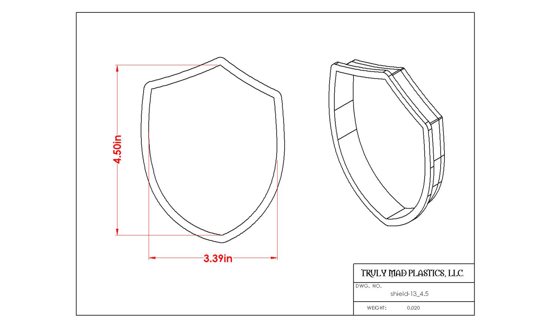 """Shield 13 (4.5"""")"""